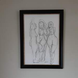 Original Life Study Graphite Drawing by Scottish artist Katherin