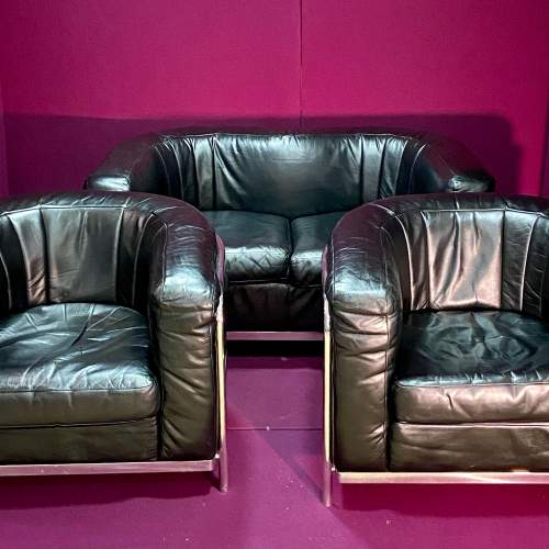 Italian Onda Zanotta Sofa and Two Chairs image-1