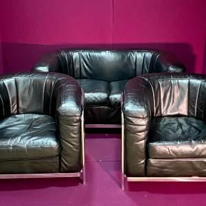 Italian Onda Zanotta Sofa and Two Chairs