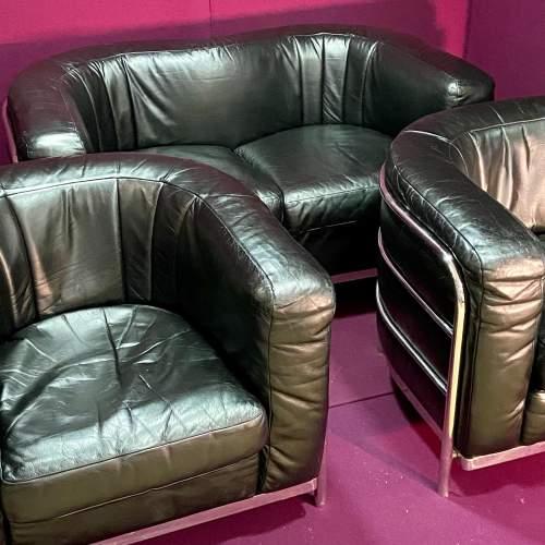 Italian Onda Zanotta Sofa and Two Chairs image-3