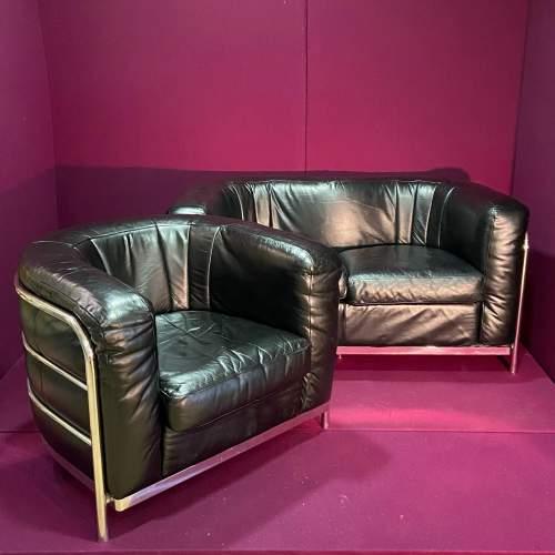 Italian Onda Zanotta Sofa and Two Chairs image-4