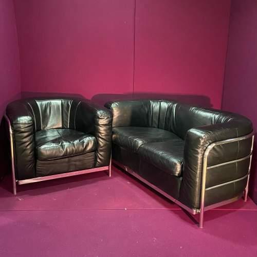 Italian Onda Zanotta Sofa and Two Chairs image-6