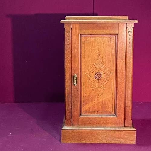 Early 20th Century Walnut Bedside or Sheet Music Cabinet image-1