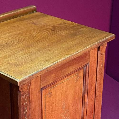 Early 20th Century Walnut Bedside or Sheet Music Cabinet image-4