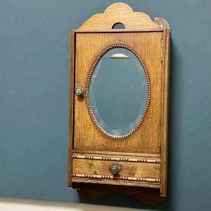 1920s Oak Wall Cabinet