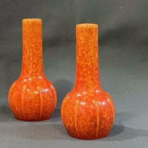 Pair of 1930s Pilkington Royal Lancastrian Vases
