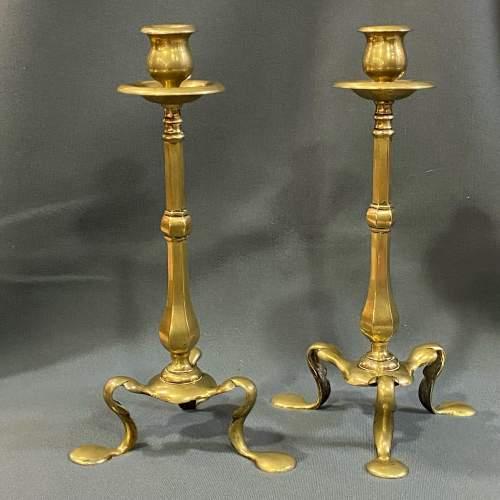 Pair of 19th Century Brass Candlesticks image-4