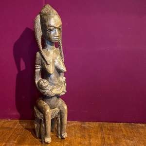19th Century Carved African Fertility Figure