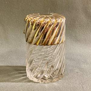 Late 19th Century Double Silver Top Salts Bottle