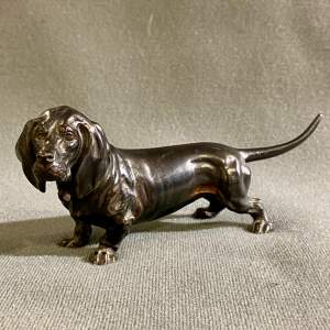 Early 20th Century Cold Painted Bronze Dog