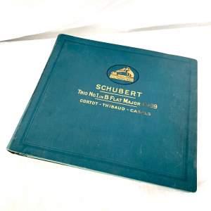 HMV 78rpm Records - Schubert Trio In B Flat Major Op 99