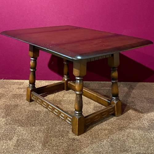 Mid 20th Century Swivel Top Drop Leaf Coffee Table image-2