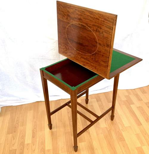 Edwardian Fold-Over Card Table image-1