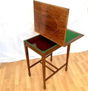 Edwardian Fold-Over Card Table
