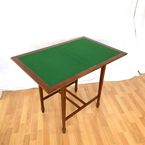 Edwardian Fold-Over Card Table image-5
