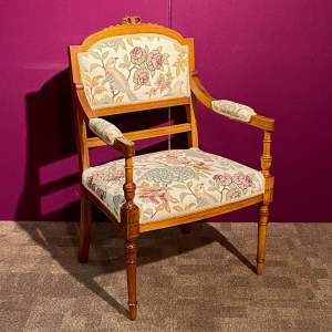 Early 20th Century French Walnut and Beech Parlour Chair