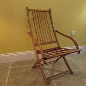 Campaign Fruitwood Folding Chair