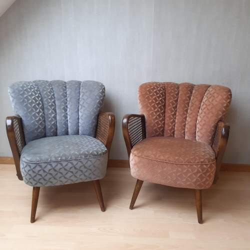 Mid 20th Century Pair of Vintage Cocktail Armchairs image-1