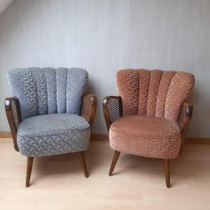Mid 20th Century Pair of Vintage Cocktail Armchairs