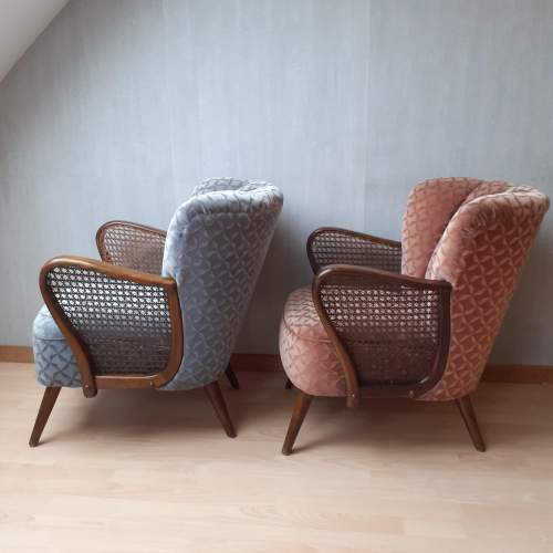 Mid 20th Century Pair of Vintage Cocktail Armchairs image-3