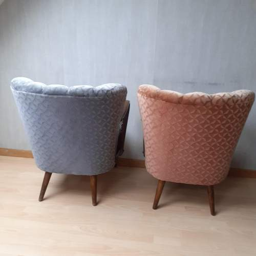 Mid 20th Century Pair of Vintage Cocktail Armchairs image-2