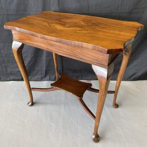 A Mahogany Occasional Side Table with Drawer