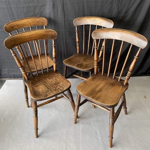 Set of Four Kitchen Spindle Back Chairs image-1
