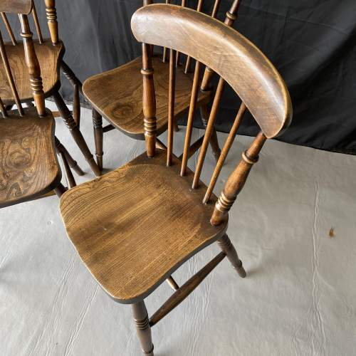 Set of Four Kitchen Spindle Back Chairs image-2