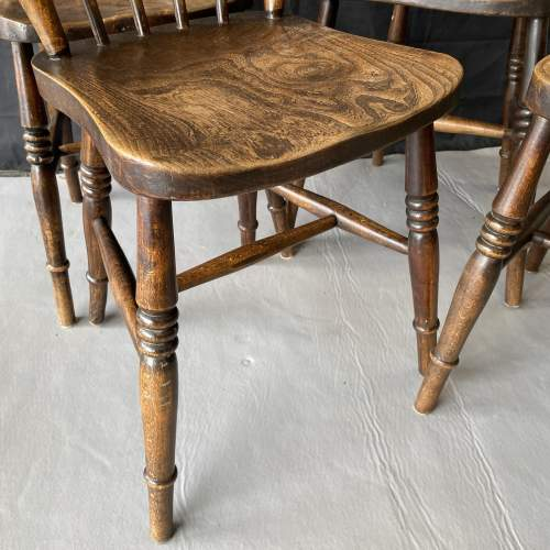 Set of Four Kitchen Spindle Back Chairs image-4