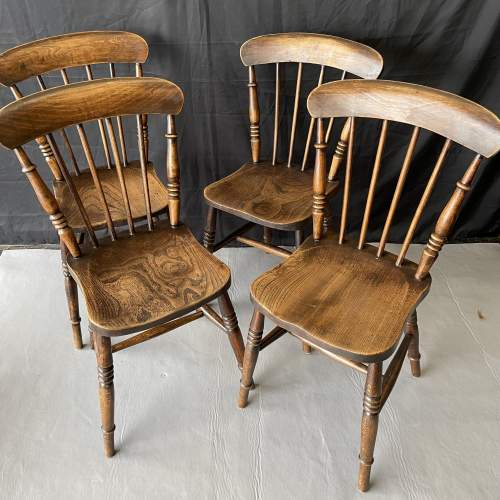 Set of Four Kitchen Spindle Back Chairs image-5