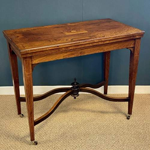 Inlaid Rosewood Card Table image-1