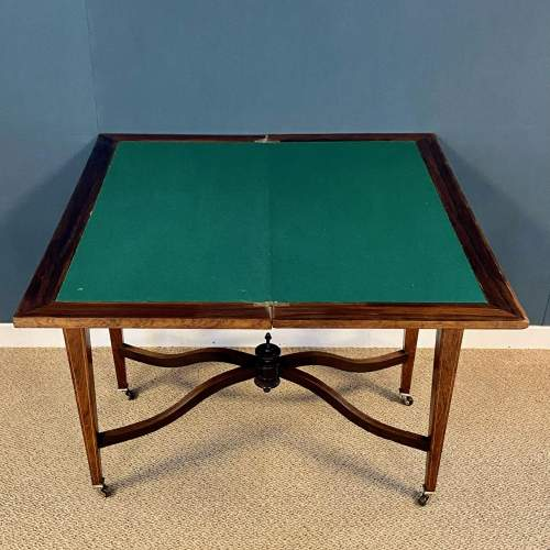 Inlaid Rosewood Card Table image-3