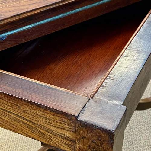 Inlaid Rosewood Card Table image-4