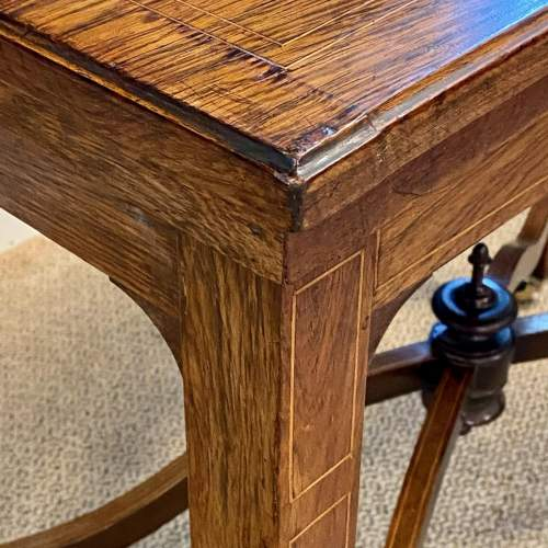 Inlaid Rosewood Card Table image-5