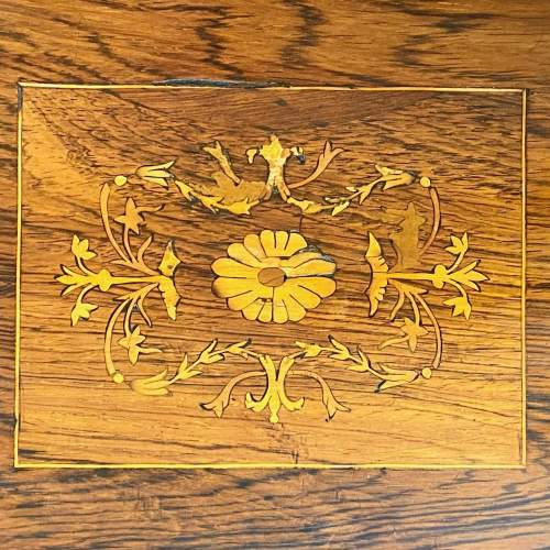 Inlaid Rosewood Card Table image-6