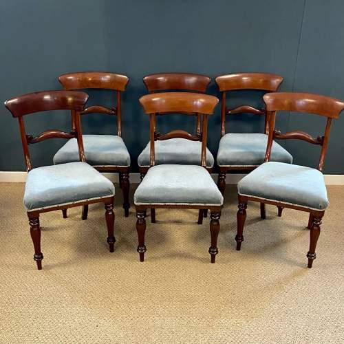 Set of Six Mahogany Dining Chairs image-1