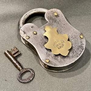 Victorian Iron Padlock