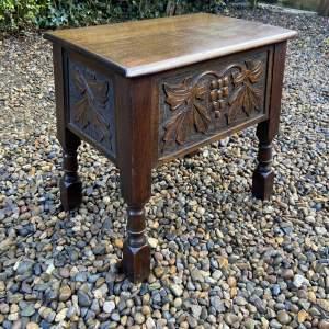 Carved Oak Sewing Box