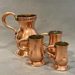 Set of Four Copper Thistle Measures