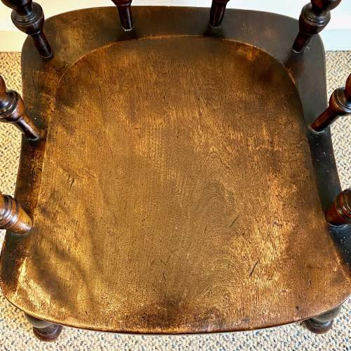 Victorian Ash and Elm Smokers Bow Armchair image-6