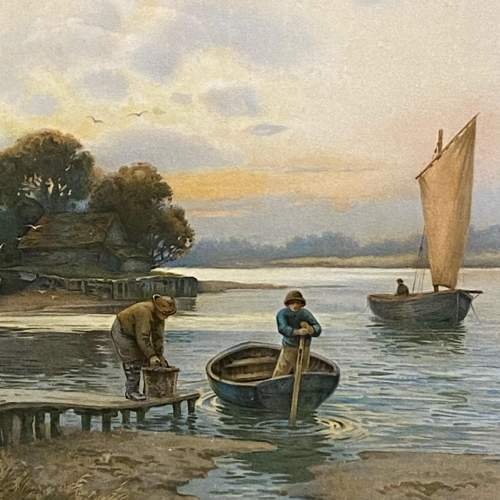 Pair of Victorian Watercolour River Scene Paintings image-5
