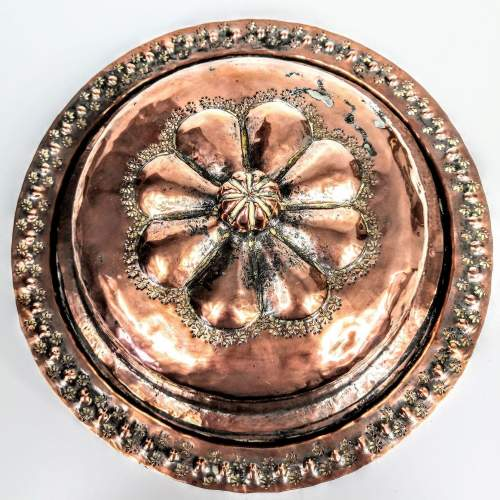 Arts and Crafts Hammered Copper Muffin Dish image-2
