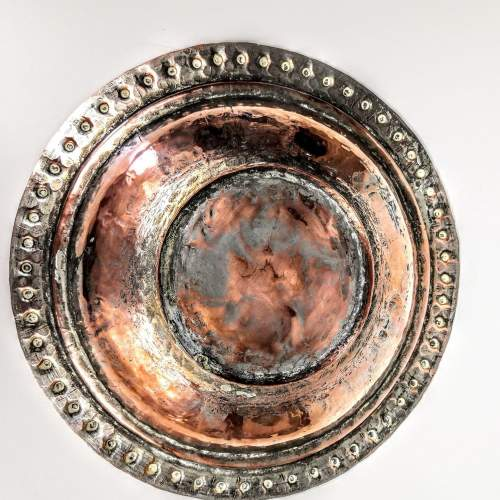 Arts and Crafts Hammered Copper Muffin Dish image-4