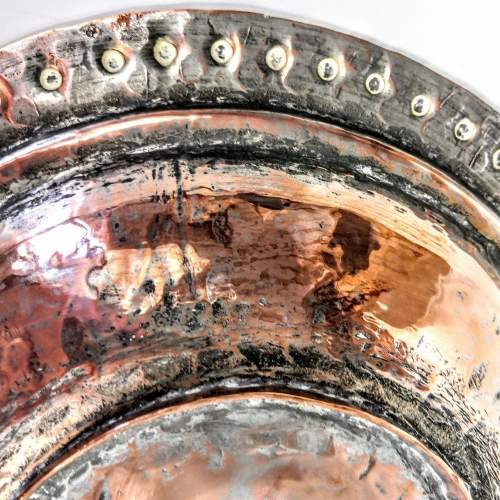 Arts and Crafts Hammered Copper Muffin Dish image-5