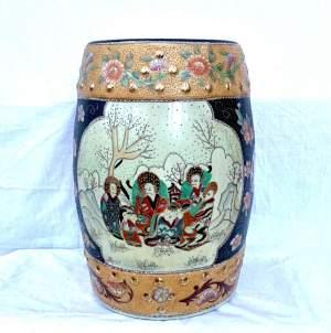 Oriental Pottery Conservatory Seat
