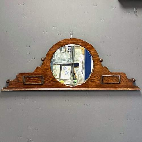 Dark Oak Over Mantel Mirror image-4