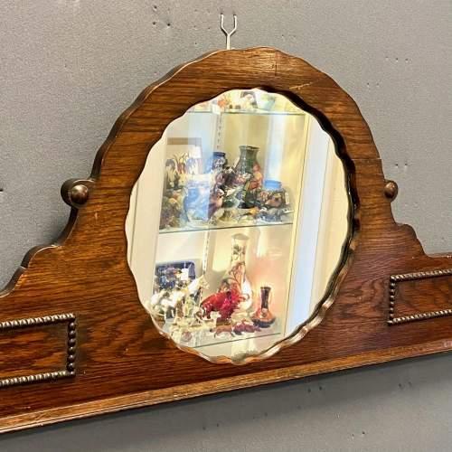 Dark Oak Over Mantel Mirror image-1