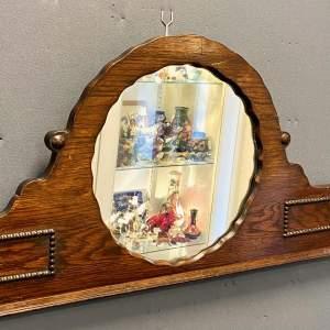 Dark Oak Over Mantel Mirror