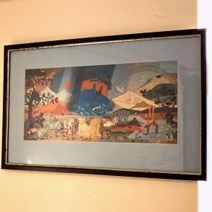 Framed Noahs Ark Print