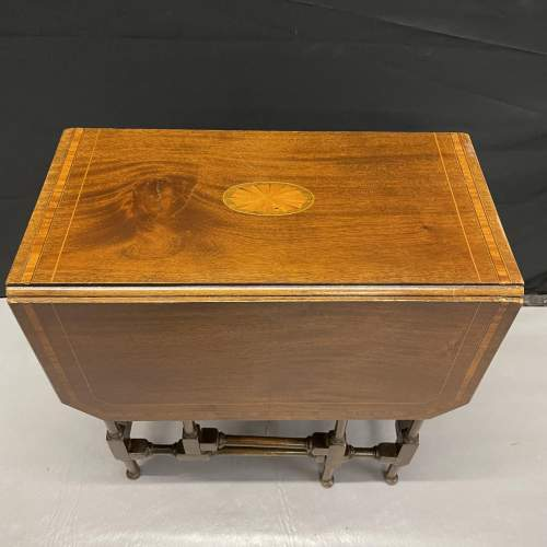 A Small Edwardian Mahogany Sutherland Table With Inlay image-4